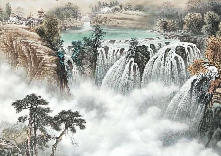 湖口望庐山瀑布泉 / 湖口望庐山瀑布水